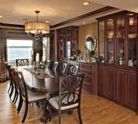 Dining Room Buffet Built In Traditional With Recessed Lighting Glass Cabinet