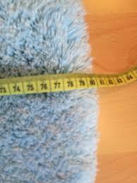kleine wolke badezimmer teppich vorleger rund 80cm blau