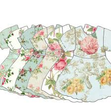 VINTAGE DIGITAL DRESS Baby Girl Dress Clipart Babydoll Collage Sheet Scrapbook Supply
