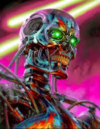 Terminator 80s Retro Newwave Artwork Robot Future
