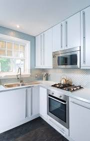 ottawa small subway tile kitchen contemporary with microwave above