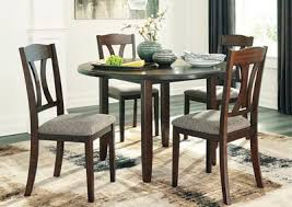 Charnalo Warm Brown Round DRM Table Set 5 CN