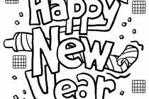 Free Printable New Years Coloring Pages For Kids Intended Happy Year Colouring