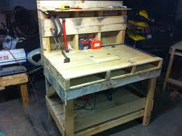 pallet work bench youtube