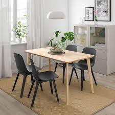 lisabo odger bord och 4 stolar askfaner antracit ikea