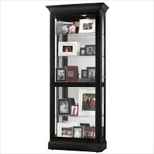 howard miller berends curio cabinet in black satin 680477