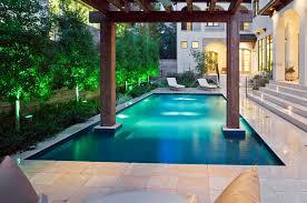 swimming pool patio designs brown concrete tile flooring small