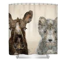 Whimsical Moose Shower Curtains
