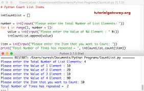 Count Same Element In List Python