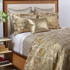 scratch duvet set in gold the art of home bedding by ann gish