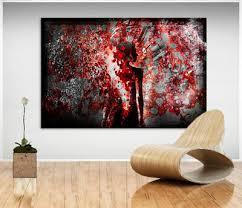 frau rot erotik bild leinwand abstrakte kunst bilder