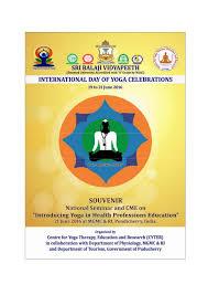 International U2013 Dead By Words by Souvenir Of International Day Of Yoga 2016 Celebrations At Sri Balaji U2026