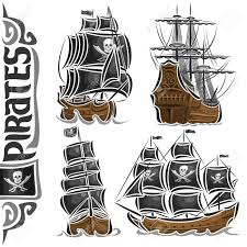 100 Pirate Ship Design Vector Set Of Variety S Collection Of Isolated Vintage