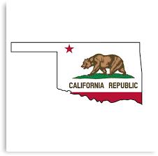 California Flag Oklahoma Outline By Artisticattitud