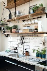 Rustic Shelves Ideas Shelving Styles For Small Kitchen Wood
