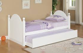 Simple White Twin Trundle Bed — Modern Storage Twin Bed Design