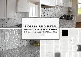 white glass metal backsplash tile luna pearl backsplash com