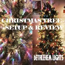 Qvc Pre Lit Christmas Trees by Qvc U0027s Bethlehem Lights Noble Spruce Tree Setup U0026 Mini Review Youtube