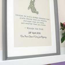 Winnie The Pooh Nursery Decor Ireland by Personalised Winnie The Pooh Typography Print By Jonny U0027s Sister