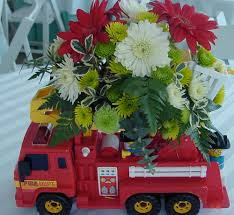 Bouquet In A Fire Engine