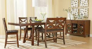 Omaha Counter Height Dining Set W Bench Brown