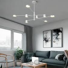 moderne led hängeleuchte in schwarz weiß gold für wohnzimmer