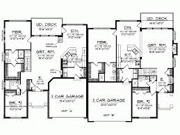 Bedroom Duplex Floor Plans Ideas by Split Bedroom Floor Plans 1600 Square Level 1 View Expanded