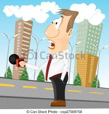 News Report Mic Icon Clipart Of Press Conference Journalist With Camera Camcorder And
