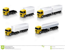 Vector Semi-trucks Icons Set Stock Vector - Illustration Of Chrome ...
