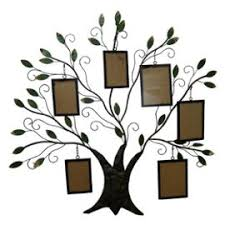 l arbre a cadre applique décoration murale arbre mural en fer marron 6 cadre photo