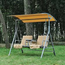 Outsunny 2 Person Outdoor Patio Porch Swing Double Seat with