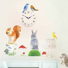Wall Mural Decals Uk by Garden Animals Wall Sticker By Chocovenyl Notonthehighstreet Com
