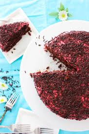 Chocolate Raspberry Sprinkles Cake Good Habits & Guilty