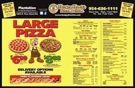 Hungry Howies Pizza Subs Plantation Sunrise Menu