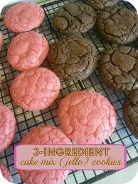 The Better Baker 3 Ingre nt Jello Cake Mix Cookies
