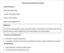 Pharmaceutical Resume Objective Template23 Details File Format