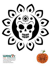 Day Of The Dead Pumpkin Carving Patterns by Dia De Los Muertos Pumpkin Pattern Woo Jr Kids Activities
