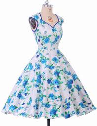 casual women dress summer 50s 60s retro vintage dresses floral