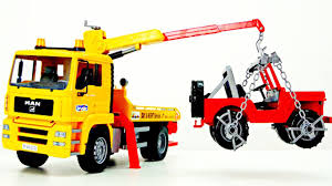 Construction Vehicles Toys Videos For Kids BRUDER TRUCK Tow Truck ...