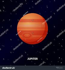 Jupiter Icon Space Background Planet Stock Vector