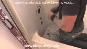 how to remove tub fiberglass shower enclosure demo tear out