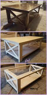 DIY Rustic X Coffee Table Tutorial Free Plan