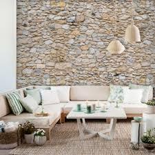 details zu vlies fototapete steinoptik steinwand beige tapete wandbilder wohnzimmer