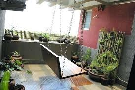 Balcony Garden Idea Attractive Ideas Designs Swing Chair Design Indian