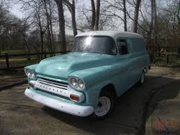 100 Panel Trucks 1959 Chevy Apache Van For Sale 55 59 Chevrolet Task Force