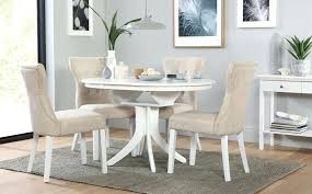 Gallery Round White Extending Dining Table And Chairs Australia