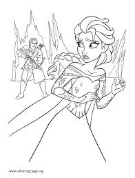 In This Picture One Of The Guards Corners Elsa Another Amazing Free Disney Frozen Printable Coloring