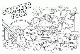 Summer Coloring Page Pages Vacation Archives Best Line Drawings