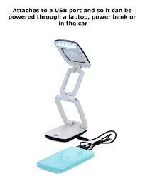 Lighted Magnifier Desk Lamp by Amazon Com Foldable Usb Battery Powered Magnifying Glass 3x