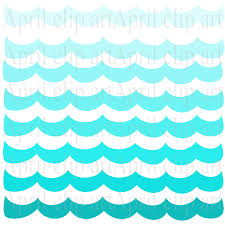 Tidal Waves Borders Clipart
